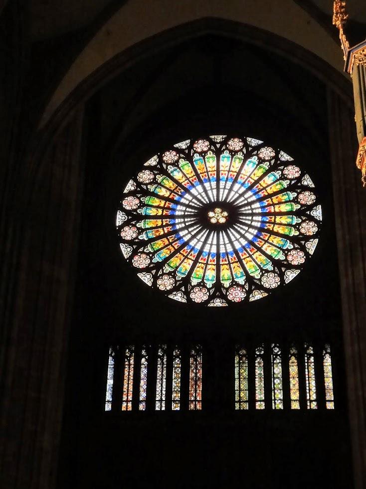 Rosace de la Cathédrale Notre-Dame à Strasbourg