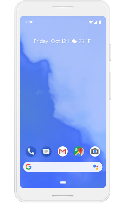 A Google phone screen showing a screen that only has tools, and no apps, on the home screen.