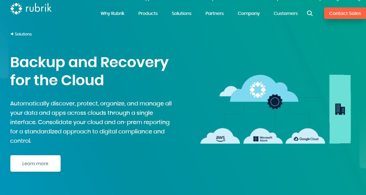 Rubrik Windows Server Backup Software