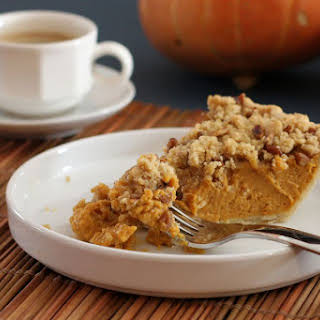 Pumpkin Pie With Pecan Streusel.