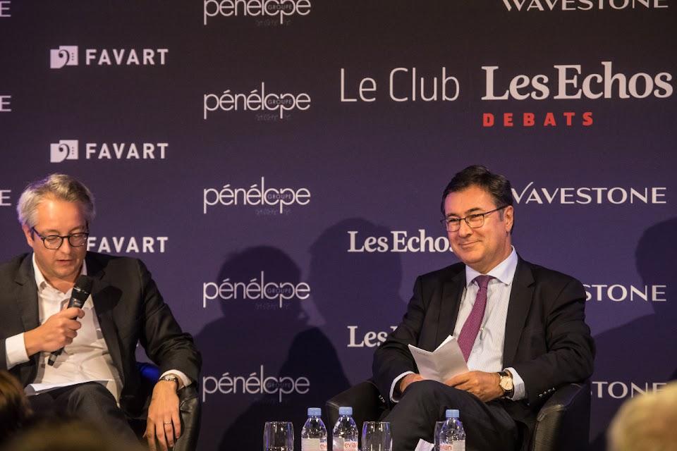 Oliver Klein au Club Les Echos Débats le 26 septembre 2017 avec Henri Gibier et Guillaume Maujean.