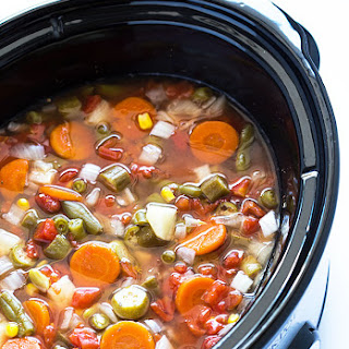 Easy Crock Pot Vegetable Soup Recipe