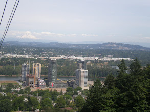 Photo: view from the Aerial Tram station at the top of Marquam Hill.