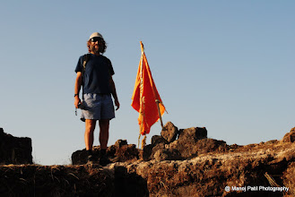 Photo: Andrew... got this enthusiastic who is on tour of various forts of Maharashtra.... Nice to see him.. :)