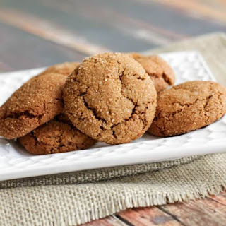 Soft and Chewy Ginger Molasses Cookies.