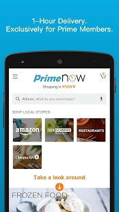Amazon Prime Now- screenshot thumbnail