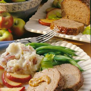 Mustard-Apple Meat Loaf.
