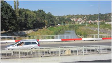 Photo: Turda - Piața Romană, vedere de pe podul mare din beton de peste raul Aries - 2018.09.19