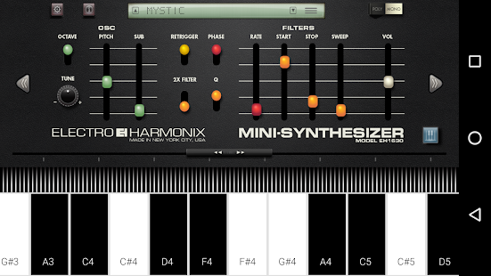 Mini Synthesizer for Phone- screenshot thumbnail