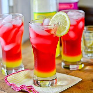 Limoncello Cranberry Cocktails.