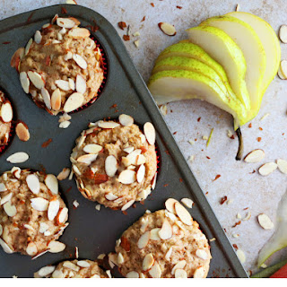 Almond Pear Muffins