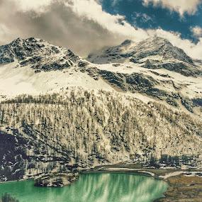 Switzerland mountain lake by Debra Graham - Landscapes Mountains & Hills ( mountain lake, switzerland )