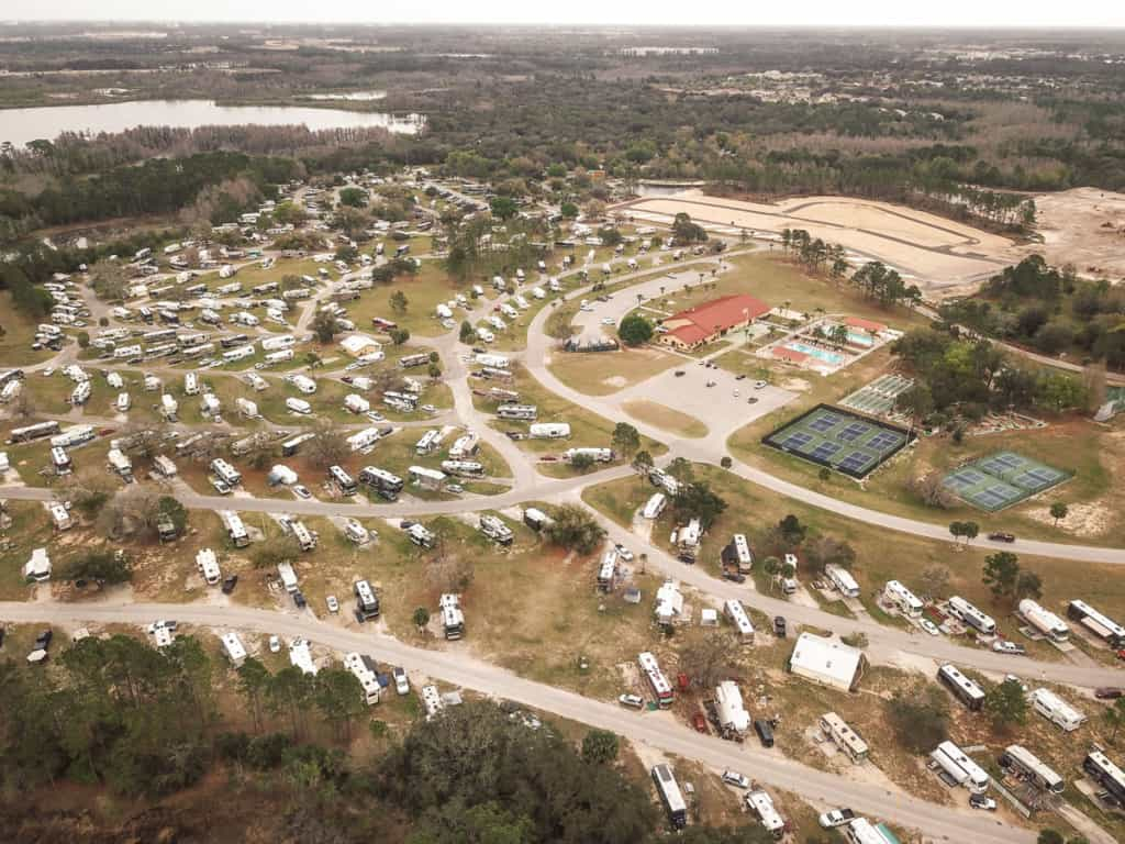 Aerial View Thousand Trails Orlando