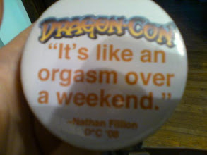 Photo: A quote by Nathan Fillion, in button form