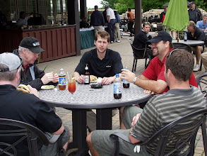 Photo: These guys had a round of poker after this