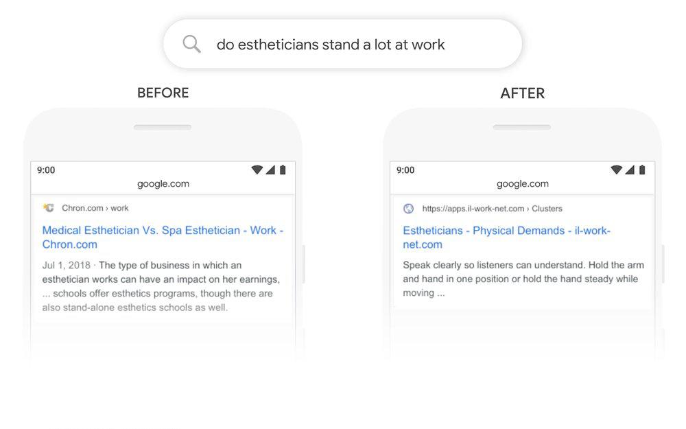 BERT google algorithm update