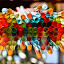 Flying Straws by Angelika Sauer - Artistic Objects Other Objects ( orange, colorful, green, art, reflections, multicolor, angelika sauer, yellow, various objects, magic, optical illusions, red, abstract art, blue, color, background, photographer, floating things, rainbow colors, straws )