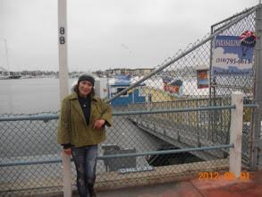 Photo: Cầu dắt ra nơi mình làm thủ tục. Thuyền để bay ở phía sau cái trạm này