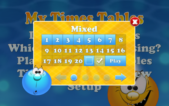 My Times Tables- screenshot