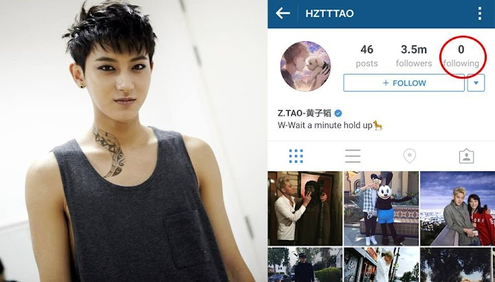 Tao cleans out his following list on Instagram after being