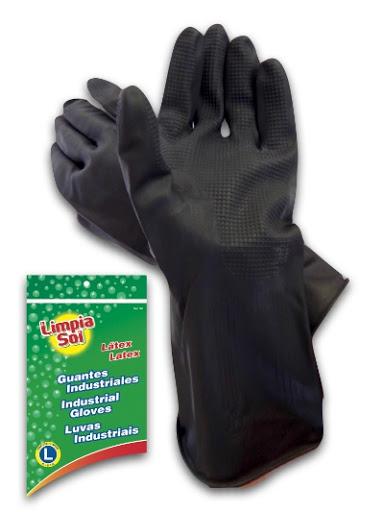 guantes limpia sol industriales talla l