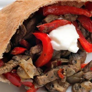 Mushroom and Steak Fajita Sandwiches.