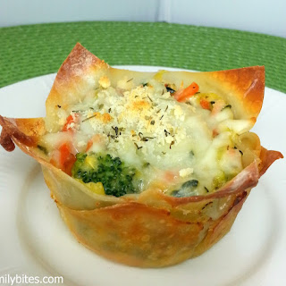 "White Vegetable Lasagna ""Cupcakes"""