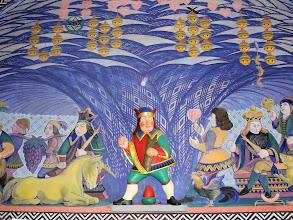 Photo: Unter of acorns, again, in a mural