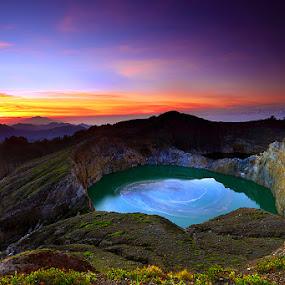 :: good morning kelimutu :: by Eddy Due Woi - Landscapes Mountains & Hills ( nature, flores, lake, travel, landscape,  )
