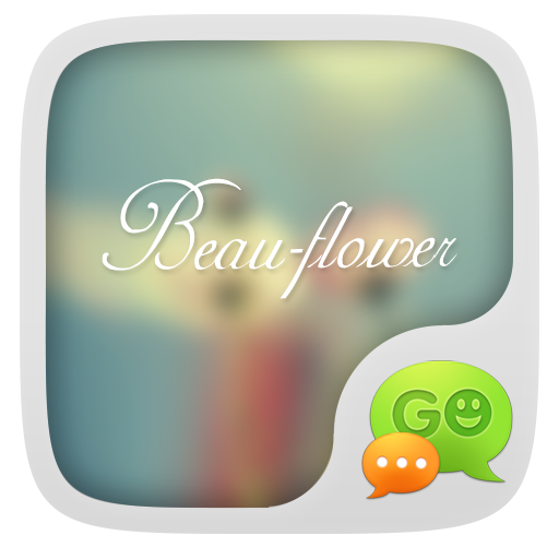 GO SMS PRO BEAUTY FLOWER THEME 個人化 LOGO-玩APPs