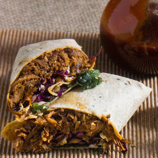 Korean-Style Pulled Pork Wraps With Asian Slaw and Kimchi