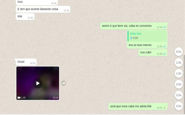 WhatsApp Audio Speed