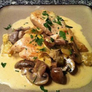 Chicken Dijon with Mushrooms and Artichokes.