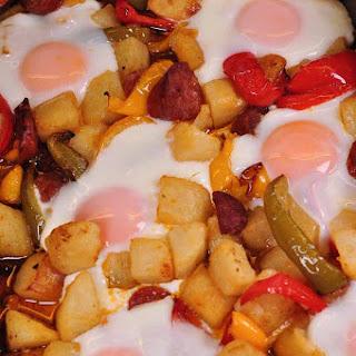 Chorizo Potato And Egg Tray Bake