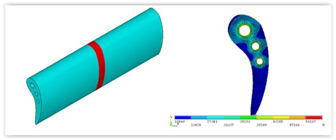 ANSYS Моделирование лопатки газовой турбины в обобщенной плоскодеформированной постановке
