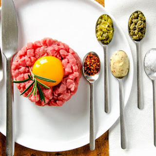 French Style Steak Tartare.