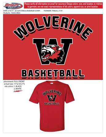 Wolverine Basketball T-Shirt