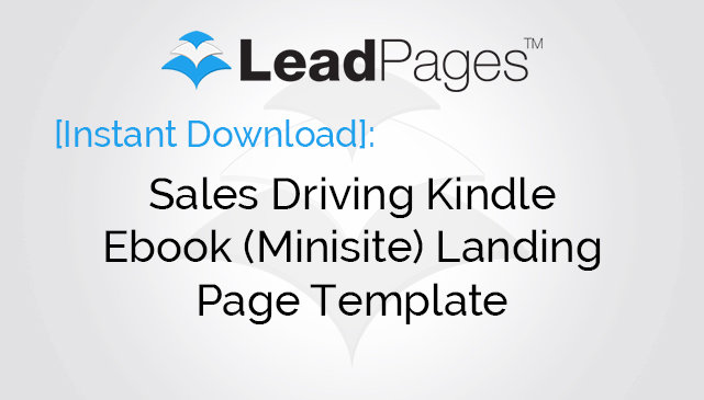 kindle ebook landing page minisite