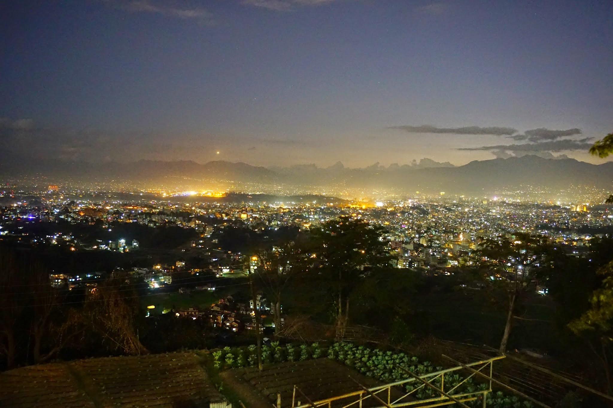 Photo: View of Boudha from Pullahari at night