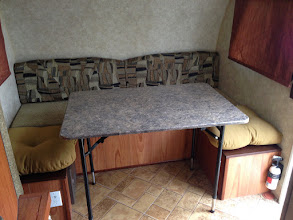 Photo: Dinette Mod: The legs and table still need work