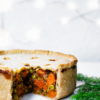 Vegan Holiday Pie with Hot Water Pastry.