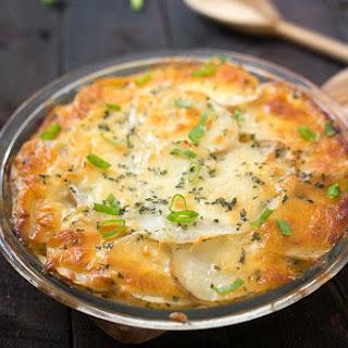 Skinny Chicken Loaded Potato Casserole