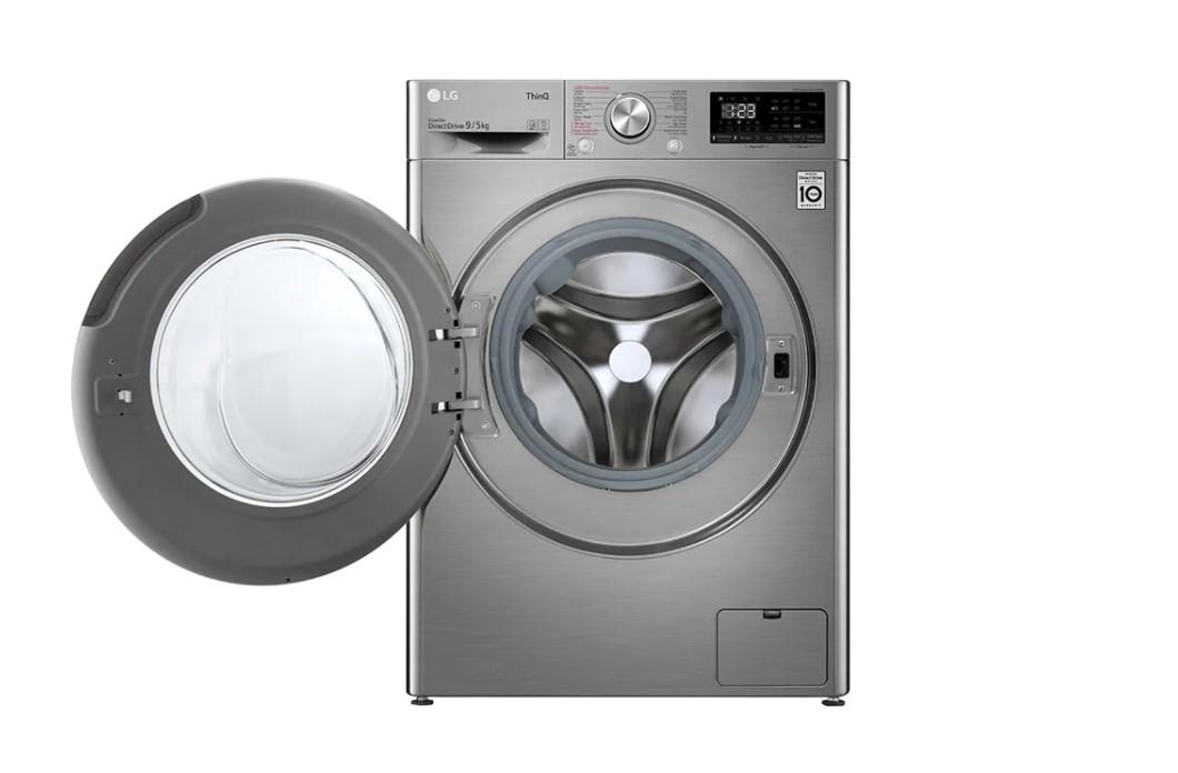 Máy giặt sấy LG Inverter 9 kg FV1409G4V tích hợp công nghệ 6 chuyển động DD giảm hư, sờn vải