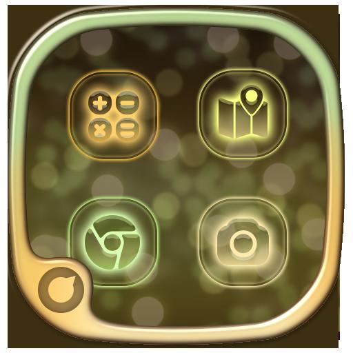 个人化のSolo Launcher Lights LOGO-記事Game