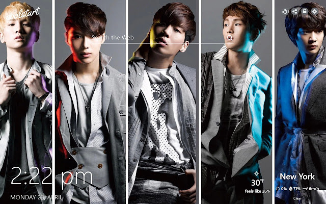 SHINee HD Wallpapers K-Pop New Tab Theme