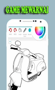 Best Games Coloring Vespa Motorcycles - náhled