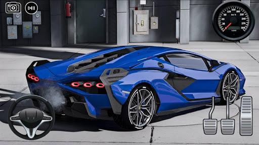 Driving Lamborghini Sian New Drift Simulator APK MOD screenshots 1