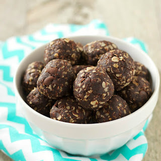 Dark Chocolate Peanut Butter Energy Bites.