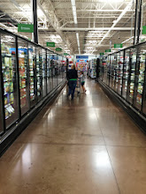 Photo: After finding almost everything else, we stopped by the frozen food aisle for some on the go Lean Cuisine frozen meals.