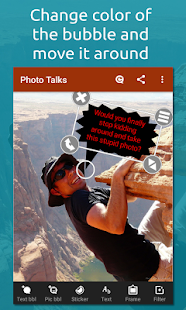 Photo talks: speech bubbles- screenshot thumbnail